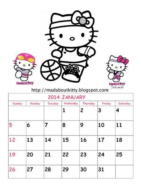 printable calendar 2016 hello kitty search results for printable august 2013 hello kitty