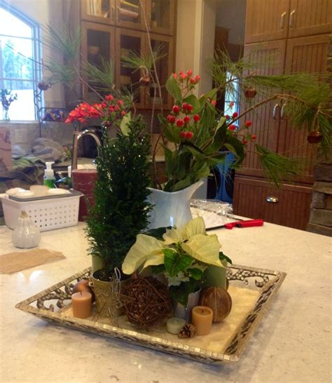 Kitchen Island Centerpiece Ideas Kitchen Island Christmas Centerpiece Christmas Pinterest