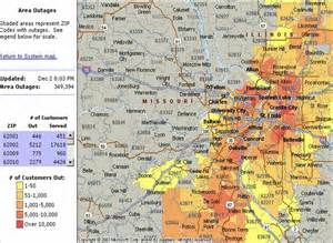 Ameren Illinois Outage Map by 300 000 Still Without Power After Worst St Louis Ice