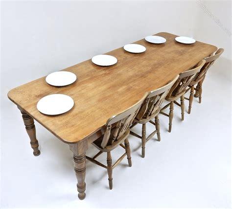 farmhouse table seats 10 10 seat farmhouse table antiques atlas