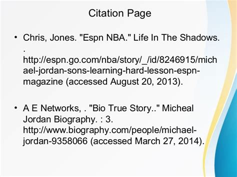 Michael Jordan Biography With Citation | michael jordan biography