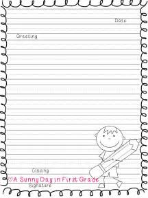 letter writing template first grade best photos of 2nd