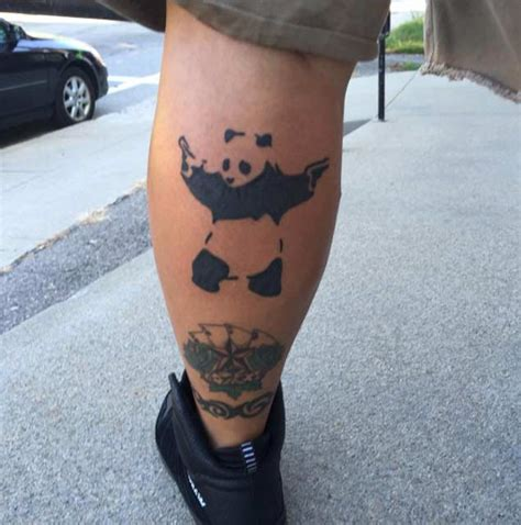 panda tattoo on thigh 14 panda tattoos ideas for legs