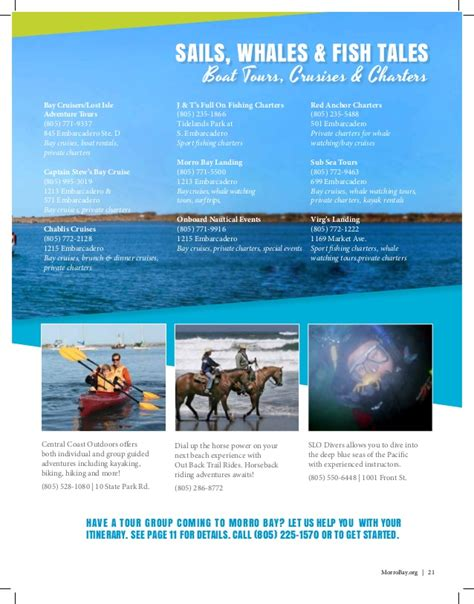 charter boat out of morro bay morro bay california visitor guide for the 2017 rescue