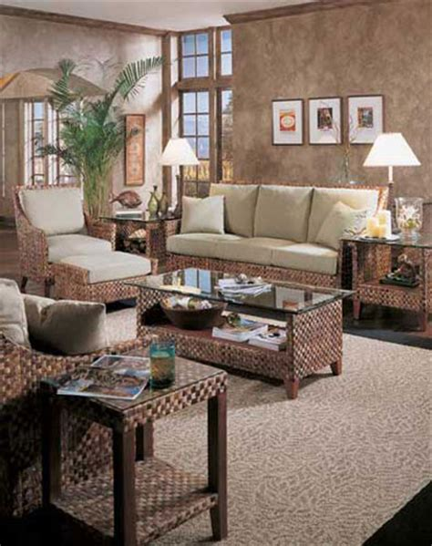 Rattan Living Room by Wicker And Rattan Living Room Furniture Braxton Culler