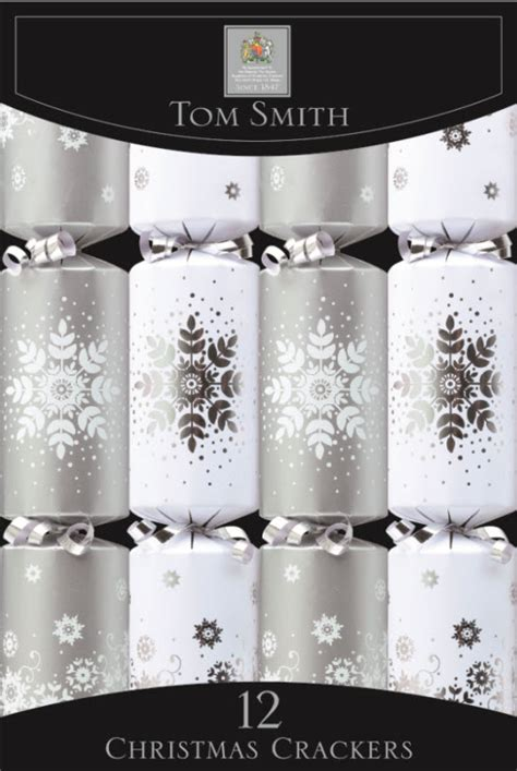 silver snowflake cube christmas crackers