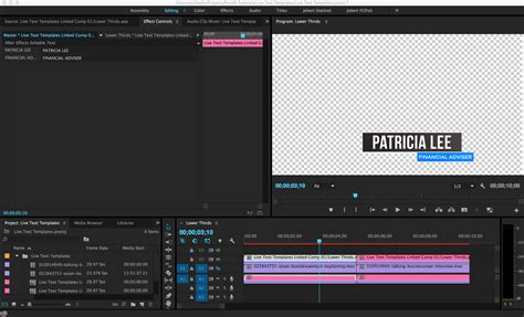 Live Text Templates Edit Text From After Effects In Premiere Pro Pond5 Text Template Premiere Pro