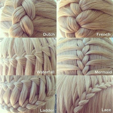name of braiding styles types of braids