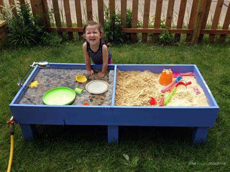 diy sand table sand and water tables rhythms of play