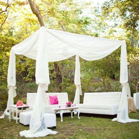 outdoor fabric canopy 28 outdoor wedding decoration ideas scallops wedding