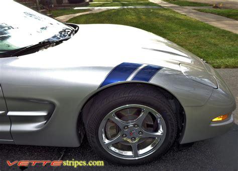 corvette fender stripes c5 corvette rf fender hash stripes vettestripes