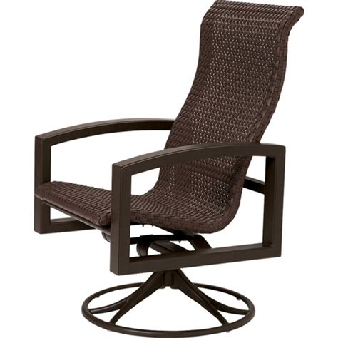 high back swivel chairs high back swivel patio chairs woodard cortland sling