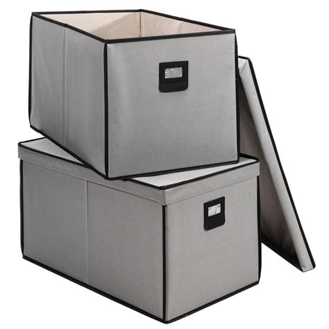 canvas storage containers canvas storage boxes set of 2 in shelf bins