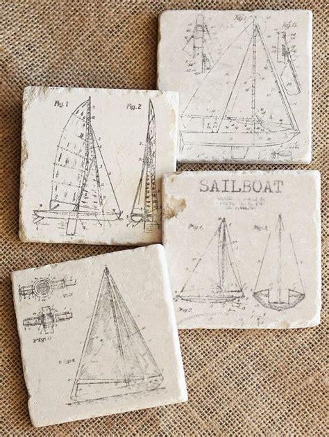 sailboat gifts sailboat coasters sailing decor sailboat decor sailor