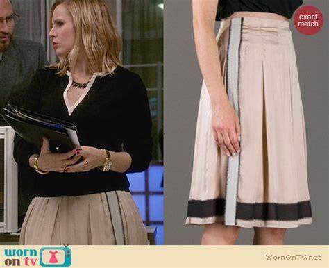 House Of Lies Wardrobe wornontv jeannie s pleated skirt and black split