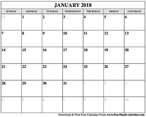 printable january 2018 calendar vertical blank january 2018 calendar printable