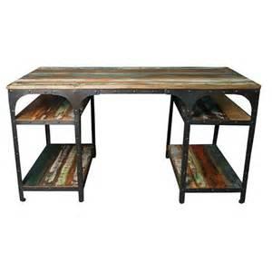 bureau en fer forg 233 et bois meuble industriel loft