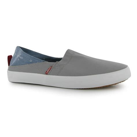 Levis Slip On levis sunset slip on casual shoes mens gents ebay