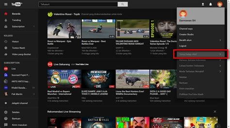 download youtube versi baru mengaktifkan tema gelap di youtube versi baru darmawan blog