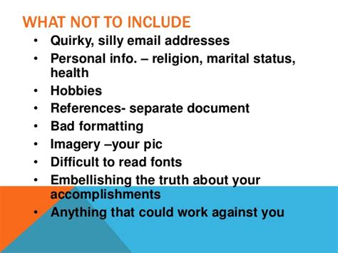 what not to include in a resume sanjran web fc2