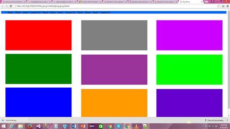 random colors html div class random color generator in javascript