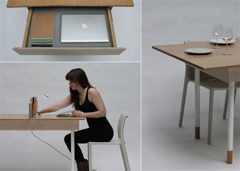 Dining Table As Desk by Space Saving Work Desk For Two That Transforms Into Large