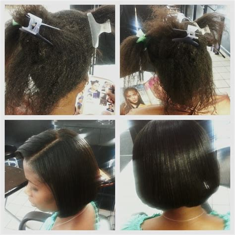 pictures after weave removal damage hair after weave sew in was removed before and