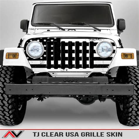 jeep grill skin jeep decals and custom jeep vinyl decals from