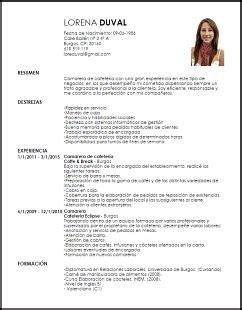 Modelo Curriculum Camarero Modelo Curriculum Vitae Camarero A De Cafeter 237 A Livecareer