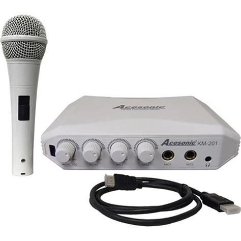 Mixer Karaoke Yamaha acesonic usa km 201 hdmi karaoke mixer with yamaha reverb