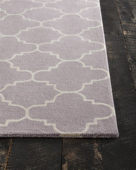 Davin Collection Hand Tufted Area Rug In Light Purple Purple And White Area Rugs