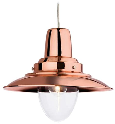 Fisherman Ceiling Light Firstlight Fisherman 1 Light Metal Pendant Ceiling Fixture Copper 8645cp From Easy Lighting