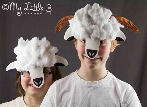 How To Make A Paper Sheep - sheep mask craft crafts
