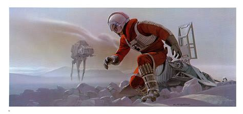 star wars battles concept art star wars luke skywalker hoth snow speeder ralph mcquarrie