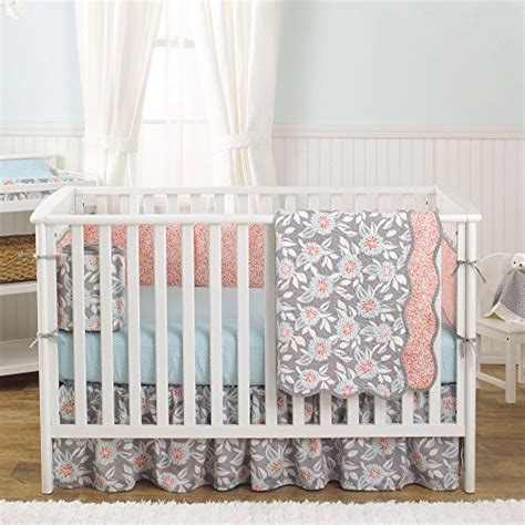 How To Make Baby Crib Bedding Grey Dahlia 4 In 1 Baby Crib Bedding Collection By