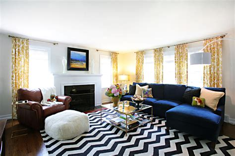 chevron living room spectacular yellow and white chevron curtains decorating