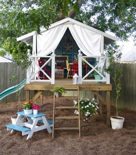 backyard playhouse 15 super awesome kids outdoor playhouses kidsomania
