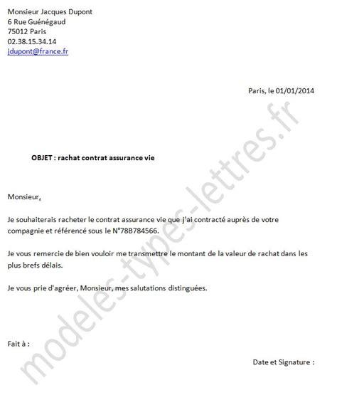 Resiliation Prevoyance Lettre Modele Lettre Resiliation Contrat Prevoyance