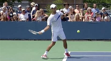 forehand swing novak djokovic forehand in slow motion