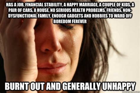 has a job financial stability a happy marriage a couple