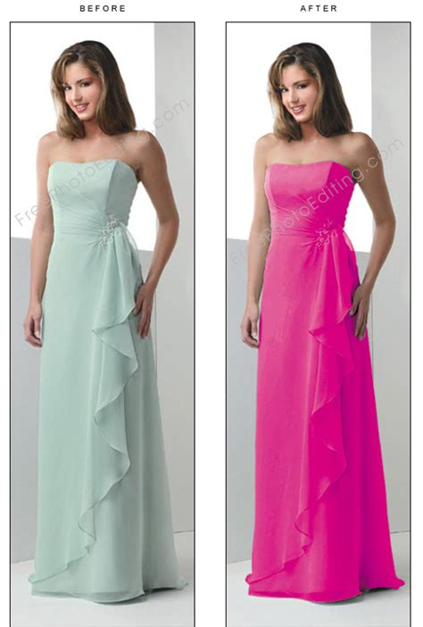 Photographic Locations And Pink Chagne by Change Gown Color To Pink Or Fuchsia Pink In Photo