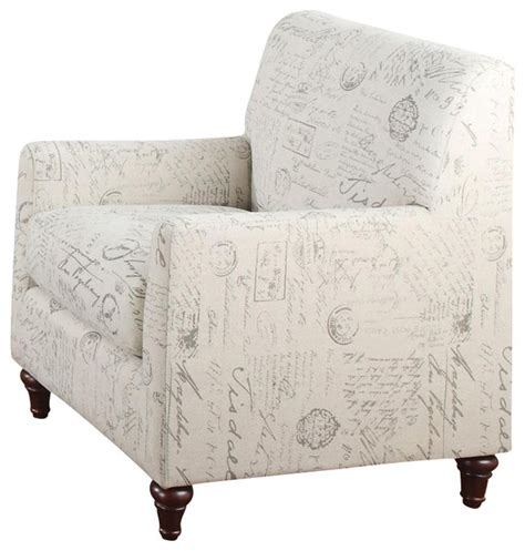 decorative armchairs coaster norah accent arm chair in french script pattern transitional armchairs and