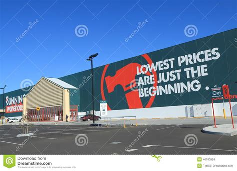 bunnings warehouse australia editorial stock image image