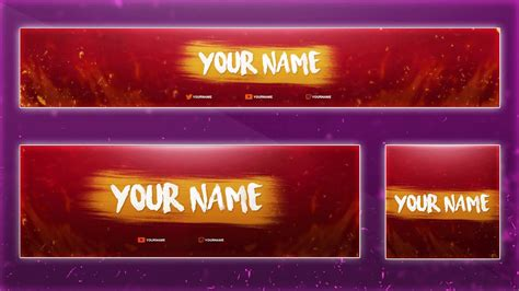 Clean Youtube Banner Template Psd Photoshop Free Download Tutorial 2016 Youtube Banner Template Photoshop
