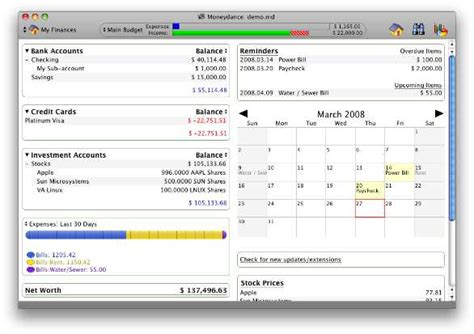 Budget Calendar Mac Moneydance 2008 Improves Interface Macworld