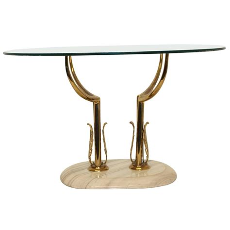 marble glass coffee table 1960s italian brass marble and glass coffee table at 1stdibs