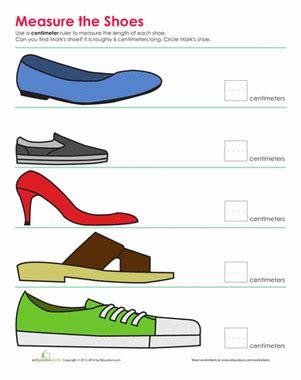 printable shoe ruler shoe measurement worksheet education com