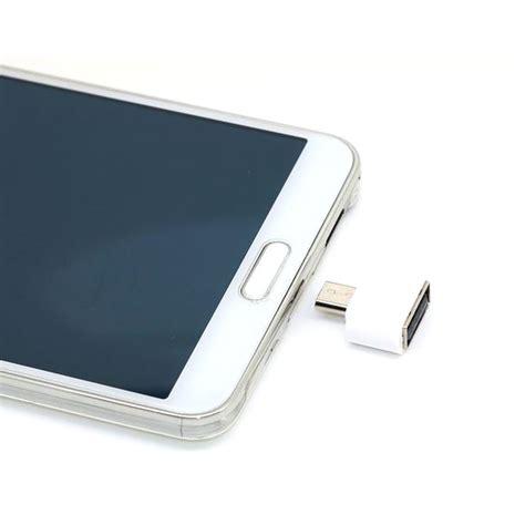 Mini Otg Adapter Micro Usb To Usb White I1385 mini otg adapter micro usb ke usb white