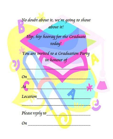 free graduation party invitation templates greetings island