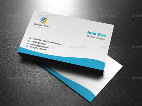 Business Card Template Preview by Professional Business Card Template Design By